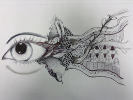 Eye Zentangle by runningforcover