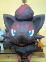 Zorua Papercraft 1 by riolushinx