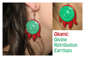 Okami: Divine Retribution Earrings by CloudyKasumi