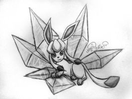 Glaceon Sketch by MelonFoxJozei