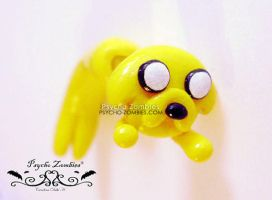 Jake the dog adventure time stud earring fake plug by Initta