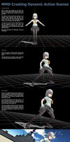 MMD Creating Dynamic Action Scenes by Trackdancer