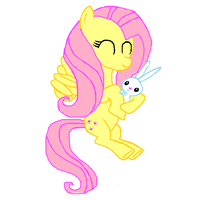 Fluttershy and Angel by SportaTiffany