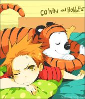 Calvin and Hobbes by loveariddle