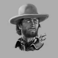 Clint Eastwood by louelio