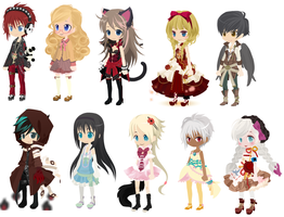 Free Adoptables Collection set 11 -CLOSED- by RainAdoptables
