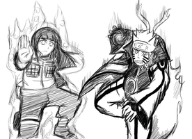 Naruto and Hinata Fight Combination (Process #2) by Shadow-chan15