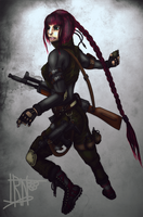 Military girl by Irkis