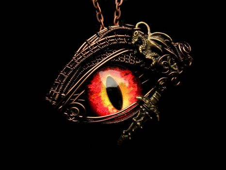 Smaug LotR Inspired Wire Wrapped Pendnant - Sting by LadyPirotessa