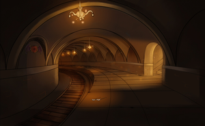 Underground Train Station by kikikittykat