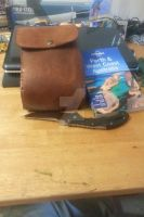 Aged leather pouch 8oz leftovers 2 by BlackhandCustoms