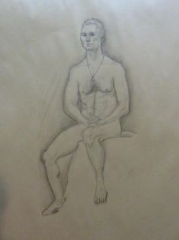 Life Drawing Sketch - 30 min by LazerWhale