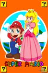 Mario and Peach by MRSaeba-San