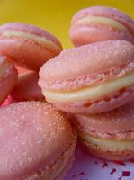 Pile of Pink French Macarons by HungryDesigns