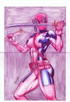 deadpoolgirl by amorimcomicart