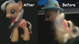 Applejack Hair Re-style by Rainbow-Koolaid