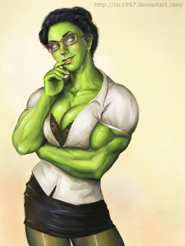 she hulk commission 2 by clc1997