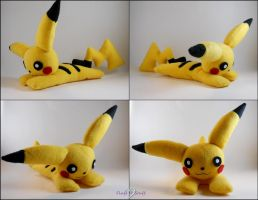 Pikachu Plush - More details by SailorMiniMuffin