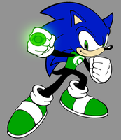 Green Lantern Sonic by Death-Driver-5000