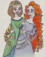 Brave - Merida + Mother by DottyDrama