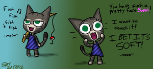 Animal Crossing-My cat Gracie by Catmaniac8x