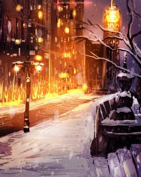 Winter  lights by ryky
