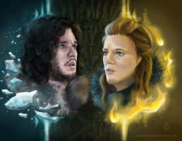 Jon and Ygritte Game of Thrones by Ayeri