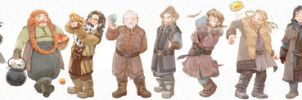 Dwarves by karama-wari