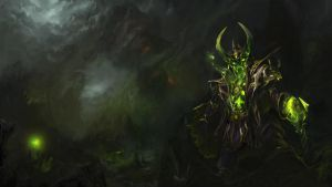 Narcissic Leech - Pugna set's Loading screen by TrungTH
