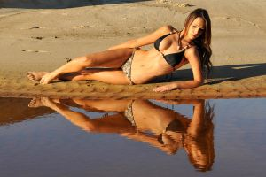 Annali - black bikini reflected 1 by wildplaces