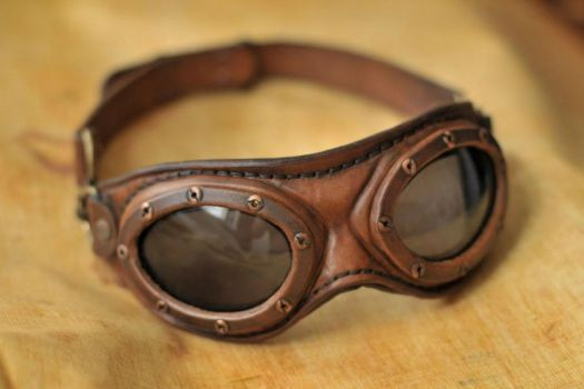 Steampunk aviator goggles by DenBow