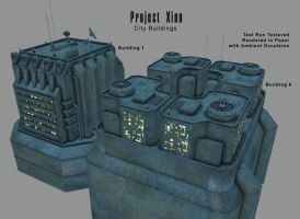 Project Xion Buildings WIP by inception8