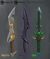 WOW Styled Daggers by Lovesickvash