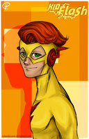 Kid Flash - Wally West by Coloralecante