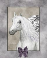 Horse Angel Portrait by VioletDolphin