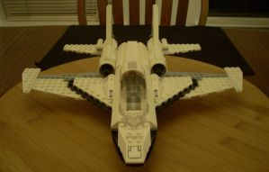 LEGO Fighter Jet Front View by NihonFreakMB