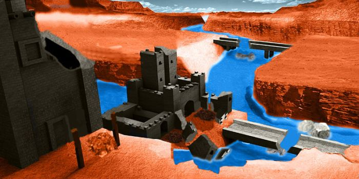Castle in a canyon - ruined by BrightDrive