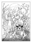 Ghost Rider Line-art by KatCardy