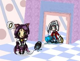 Chibi Cheshire and Hare by EPBJewelry