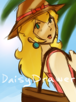 Peachy Beach by DaisyDrawer