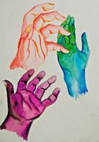 Watercolor Hands by Komazanex
