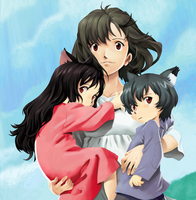 Wolf-Children: Yuki and Ame Gift by Ignis-Phoenix
