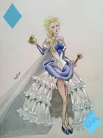 Frozen in Wonderland: Elsa the White Queen by Isabella-Eis