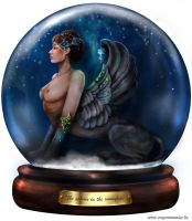 The Sphinx in the Snowglobe by crayonmaniac