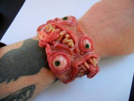Mad Monster cuff bracelet by dogzillalives