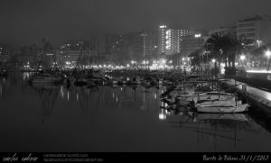 Palma at nigth. by CabrerFoto