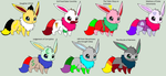 The Evillious Chronicles Eevee Adopts (6 Open) by AdoptablesofDawn