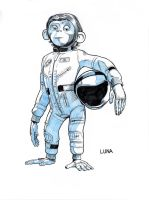 SPACE CHIMPS - Luna by Jerome-K-Moore