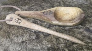 Oak Spoon and Eating Thorn Set by Troll-Blood