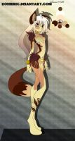 Anthro Design Auction | Okami Shojo | ( SOLD ) by Xnvy